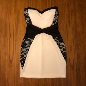 Black Lace and white dress